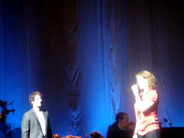 Josh Groban and Caroline Fraher