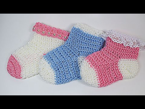 How yo make Crochet baby socks 💖 - YouTube