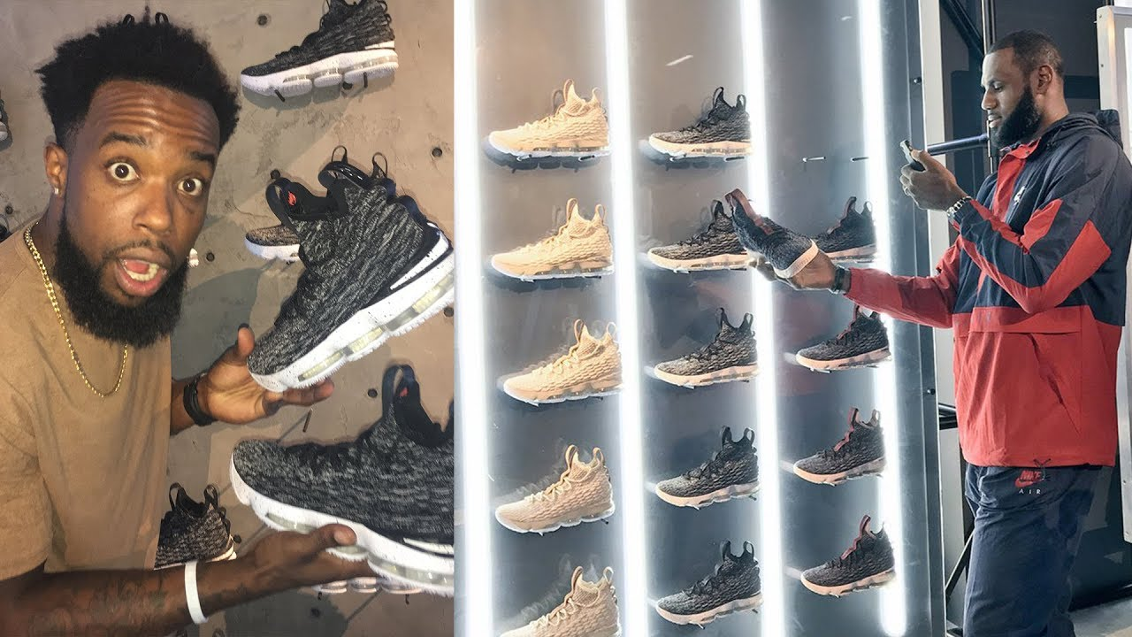 ea31f62cdd6f SHOPPING AT LEBRON JAMES LIMITED SECRET POP UP SNEAKER SHOP IN CLEVELAND!