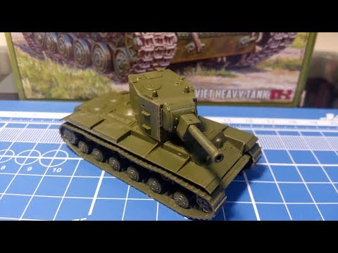 Обзор танка КВ-2 в масштабе 1/100 от фирмы ZVEZDA. ART OF TACTIC
