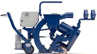Дробеструйная машина 1-15DS Blastrac, Нидерланды(Мобильная дробеструйная машина 1-15DS Blastrac используется для больших объёмов работ., 2014-12-17T17:10:05.000Z)