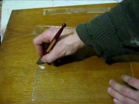 Алмазный стеклорез (как им резать)
