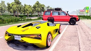 Realistic High Speed Crashes #39 - BeamNG Drive | CrashBoomPunk