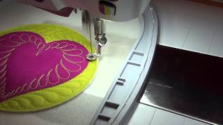 How to Do a Machine Embroidered Appliqué Feathered Heart