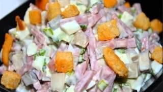 Салат из ветчины и капусты