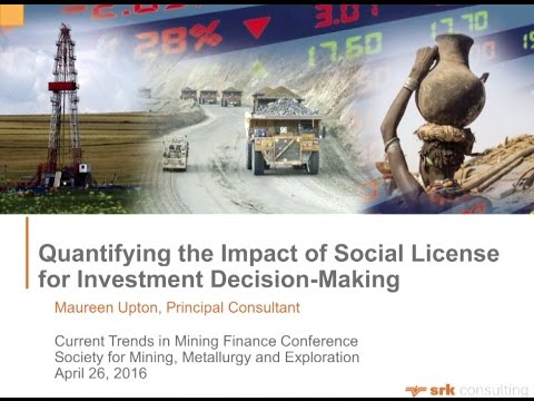 Qualifying the Impact of Social License and Related Risk Factors in Valuation of Mining