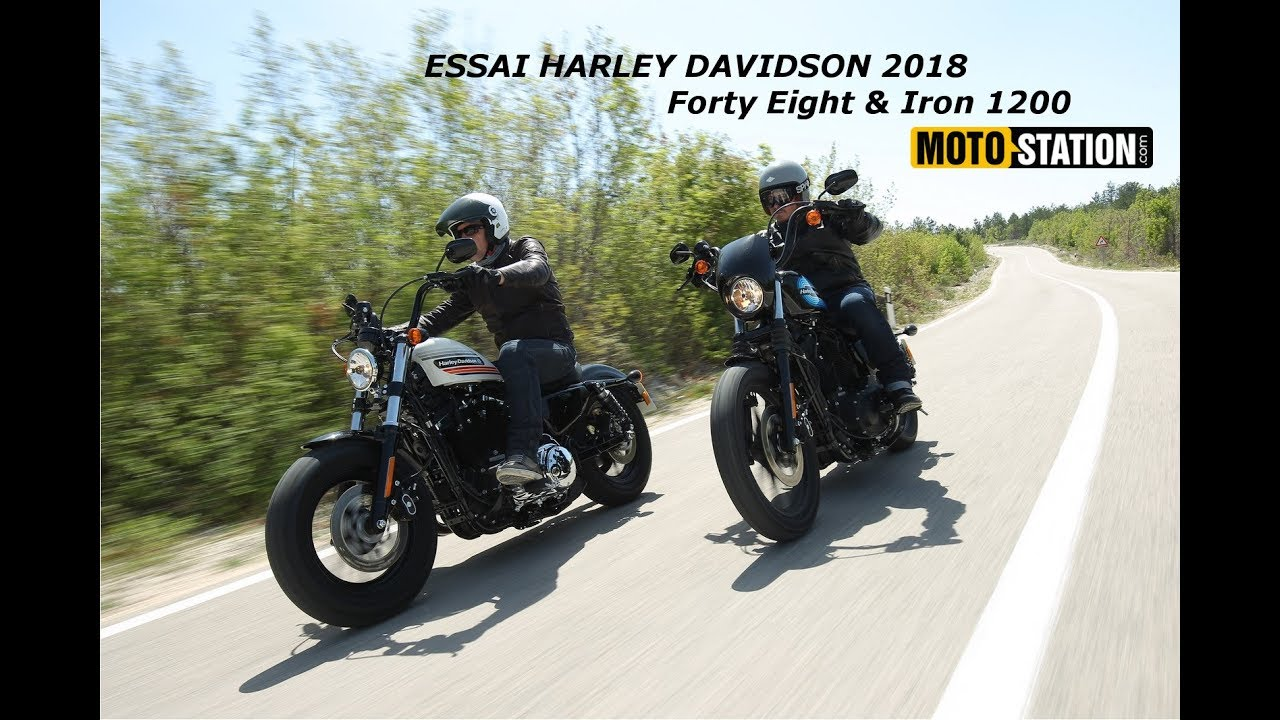 essai harley davidson 2018 forty eight iron 1200 youtube. Black Bedroom Furniture Sets. Home Design Ideas