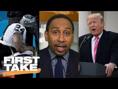 First Take responds to President Trump's tweet about NFL anthem policy | First Take | ESPN