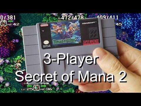 3-Player Secret of Mana 2 (Seiken Densetsu 3) Cartridge - SNES Review