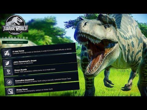 DLC ACHIEVEMENTS REVEALED! | Jurassic World: Evolution Claire's Sanctuary DLC |