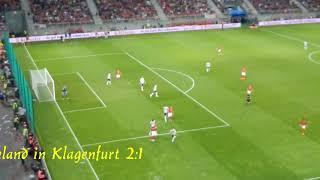 Fußball Österreich-Deutschland 2:1  in Klagenfurt