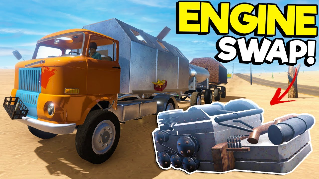 Swapping My Old Motor For a NEW Bus Engine in the Long Drive Update!
