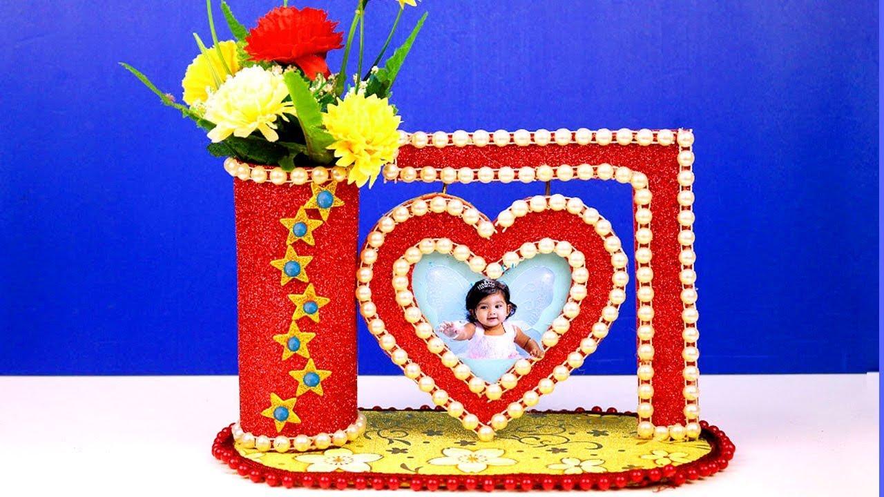 Diy Handmade Decoration Ideas At Home Waste Material Reuse Idea