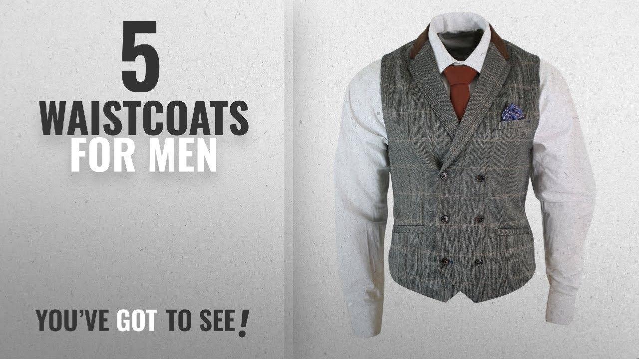 Download Top 10 Waistcoats For Men [2018]: Mens Double Breasted Herringbone Tweed Peaky Blinders Vintage