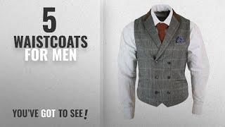 Top 10 Waistcoats For Men [2018]: Mens Double Breasted Herringbone Tweed Peaky Blinders Vintage