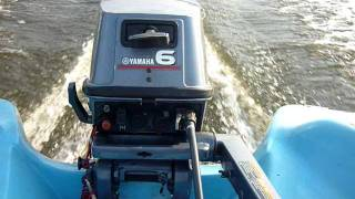 Yamaha 6 (8) DMHS + 4m glass boat @ 27 km/h