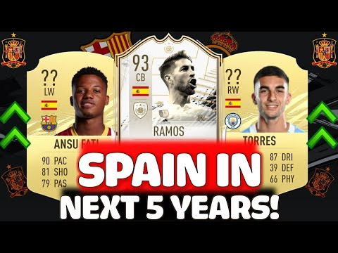 THIS IS HOW SPAIN WILL LOOK IN 5 YEARS (2025)!! FT. RAMOS, ANSU FATI, FERRAN TORRES ETC... (FIFA 21)