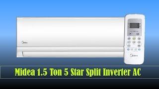 Midea 1.5 Ton 5 Star Split Inverter AC 2019 (18K 5 Star Santis Pro)