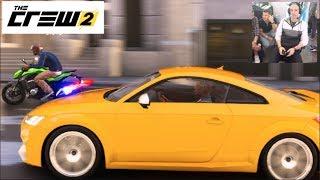 The Crew 2 - Online STUNTS FREEROAM Parking Garage Jump Drifting