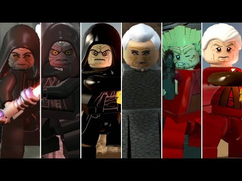 Darth Sidious (Palpatine) Evolution In LEGO Videogames