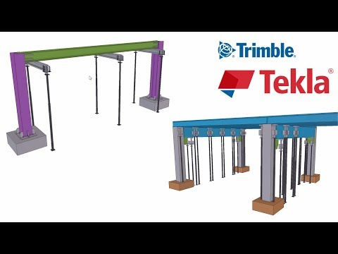 How to plan temporary shoring in Tekla Structures