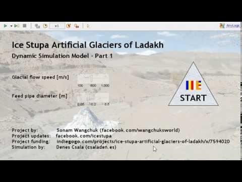 Ice Stupa Dynamic Simulation Model - Part 1
