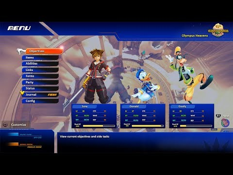 Kingdom Hearts 3 In-Game MENU CONCEPT -...