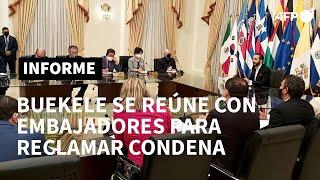 Bukele citó a embajadores en El Salvador para reclamarles por condena a su país | AFP