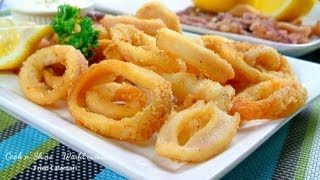 Fried Calamari with Lemon Mayonnaise