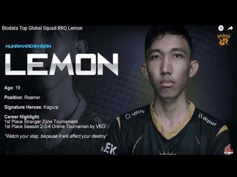 Biodata Top Global Squad RRQ Lemon