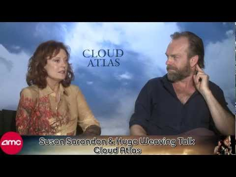 Susan Sarandon and Hugo Weaving Cloud Atlas Interview