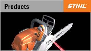The STIHL Laser 2-in-1 − felling direction indicator and cutting guide in one