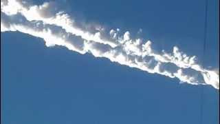 15.02.2013 след от метеорита над Челябинском