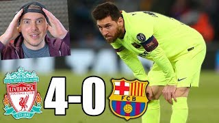 LIVERPOOL vs BARCELLONA 4-0 *INCREDIBILE!* LA MIA REAZIONE + Highlights!!