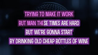 For The First Time Karaoke Version by The Script (Video with Lyrics)