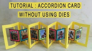 ACCORDION CARD TUTORIAL:Card for explosion box/scrapbooks