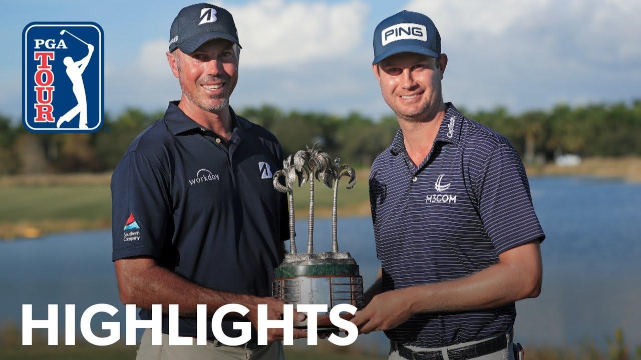 Harris English and Matt Kuchar's winning highlights from QBE Shootout 2020