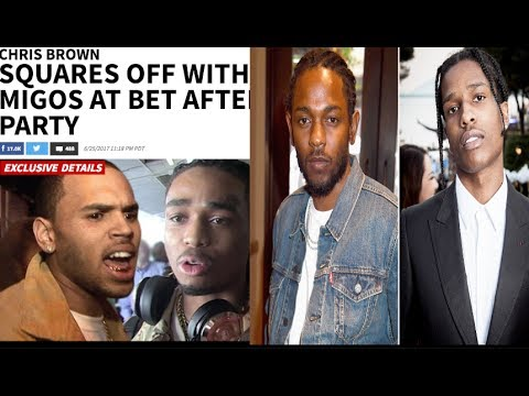 Chris brown's Crew & gets in to it with Migos+ A$AP Rocky gets into a Scuffle at Pre-BET Party