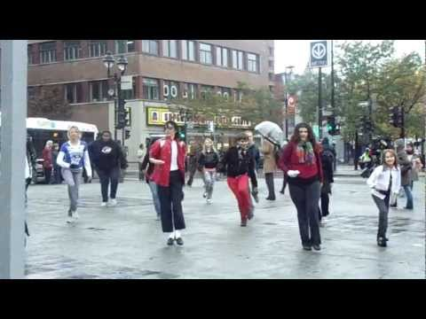 Montreal Flashmob 'Beat It' - Oct 2nd 2011 (Mount Royal Metro)