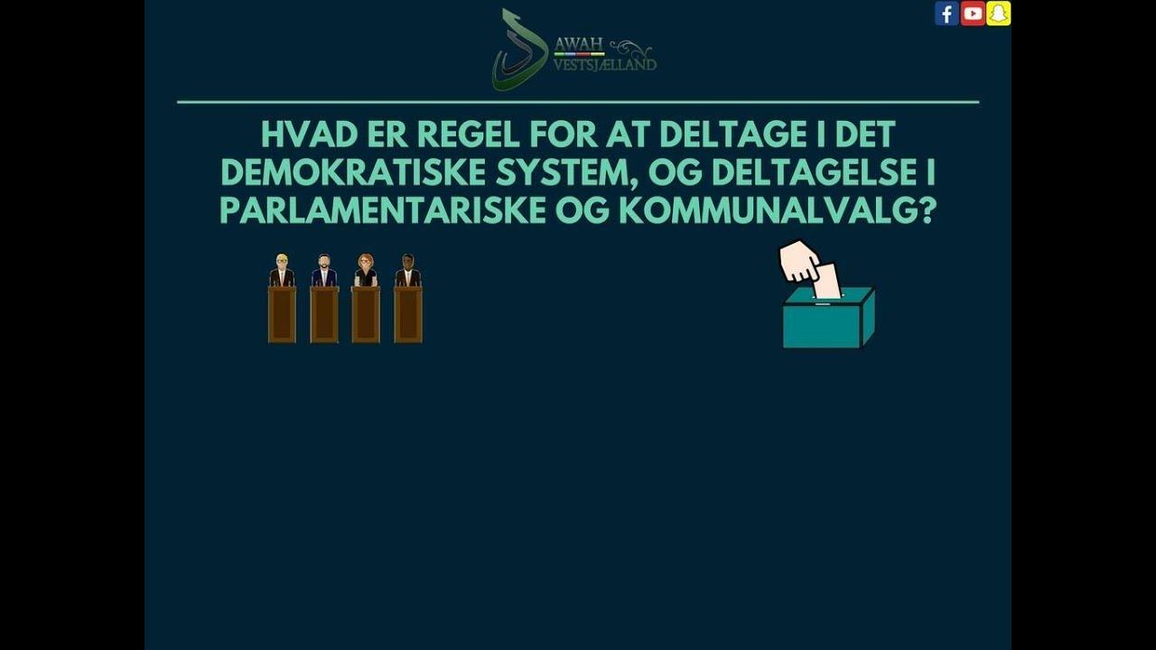 Hvad er regel for at deltage i det demokratiske system, parlamentariske og kommunalvalg?