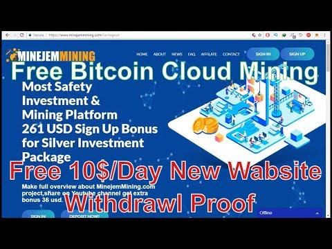 Minejem Mining Review ! Free Bitcoin Cloud mining 2018 Free