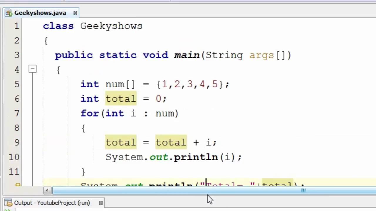 java for each loop array