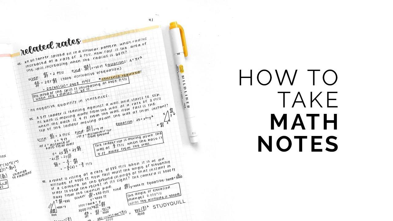 Aesthetic Notes Math - Ala Model Kini