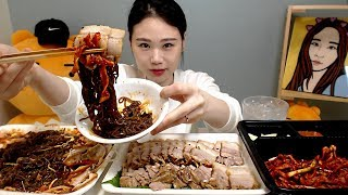 보쌈과 쟁반국수 먹방 Mukbang