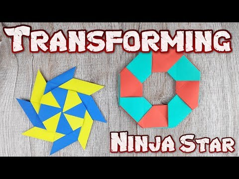 Origami Transforming Ninja Star Toys | How To Making Easy Ninja Weapons Paper Tutorial | DIY Weapon