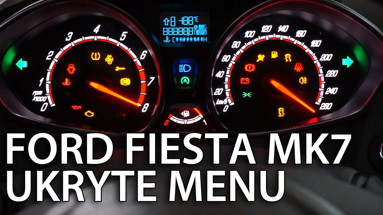 Ford Fiesta Mk7 Ukryte Menu Zegar 243 W Diagnostyczny Tryb