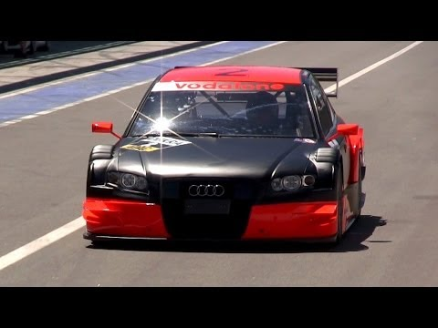 2007 Audi A4  DTM R13 Sound - Warm Up, Accelerations & Fly Bys