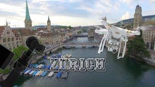 Switzerland Zürich City drone Video 4K