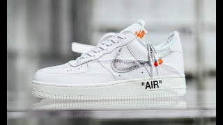 5c3f5e98a3f643 Off-White AF100 Virgil Abloh x Nike Air Force 1 Low White Silver ...