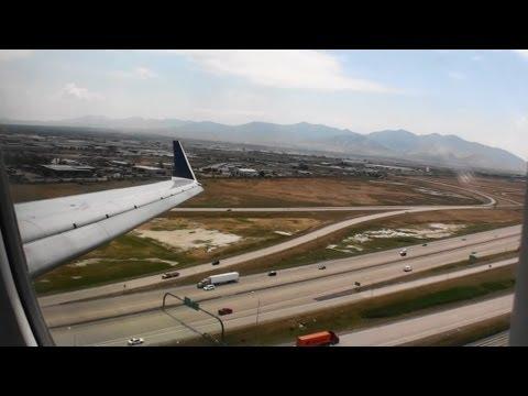 Fantastic HD Bombardier CRJ-700 Landing In Salt Lake City Utah!!!